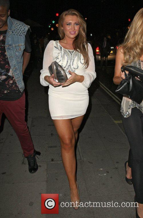 Lauren Goodger leaving Aura Nightclub. Lauren was reportedly...