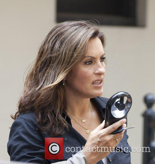 On the set of 'Law & Order: SVU'...