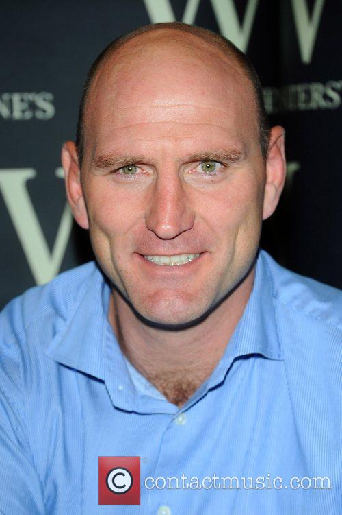 Lawrence Dallaglio signs copies of his book 'World...