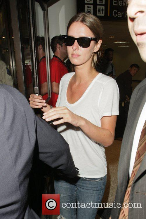 Nicky Hilton arriving at LAX airport on a...