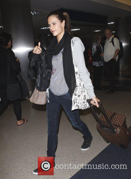Alessandra Ambrosio arriving at LAX Los Angeles, California