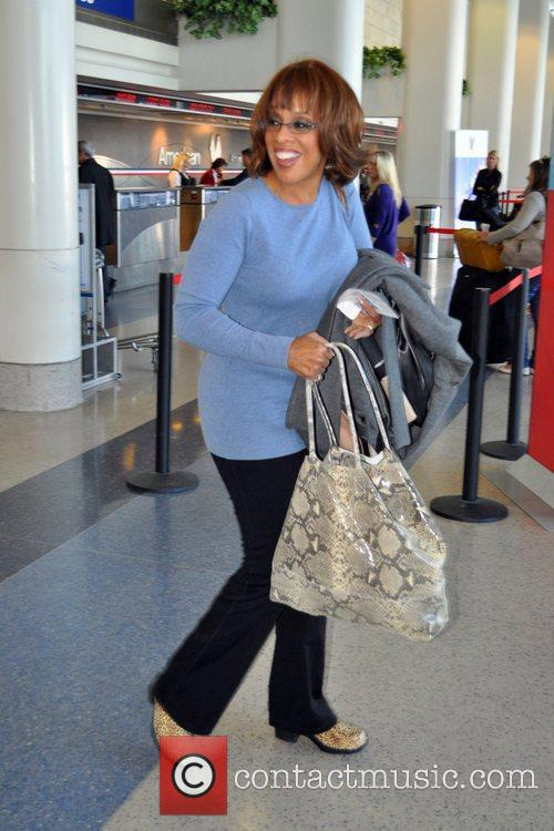 Gayle King Celebrities arrive at LAX to catch...