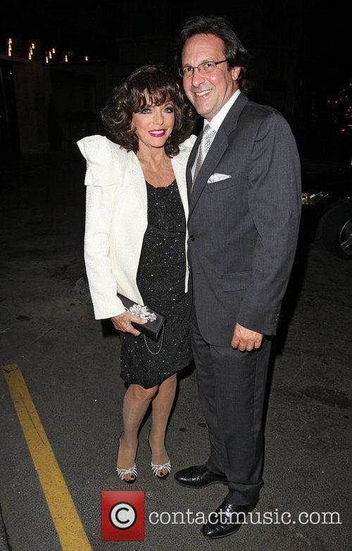 Joan Collins and Percy Gibson at a private...