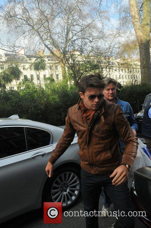 Leandro Penna arriving at Katie Price's friend Gary...
