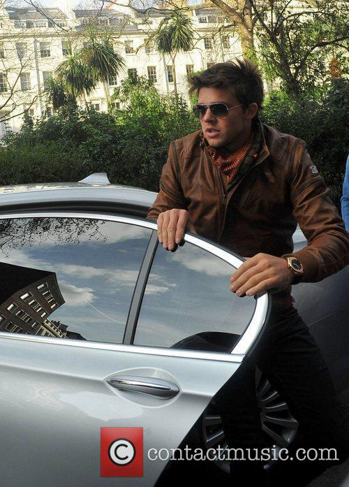 Leandro Penna  arriving at Katie Price's friend...