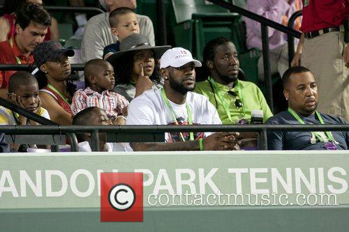 Lebron James and his family attend The 2011...