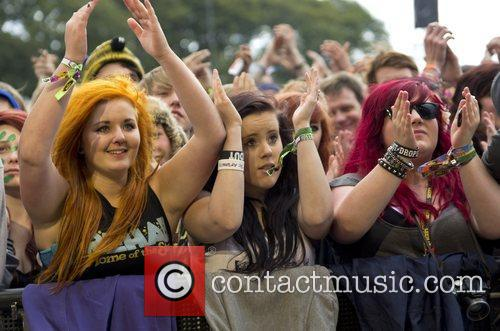 Atmosphere Leeds Festival at Bramham Park - Day...