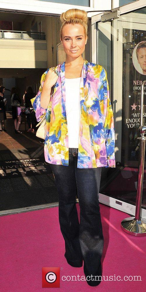 Amanda Harrington at press night for Legally Blonde...