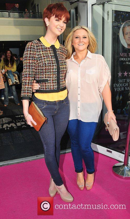 Amanda Harrington (left) at press night for Legally...