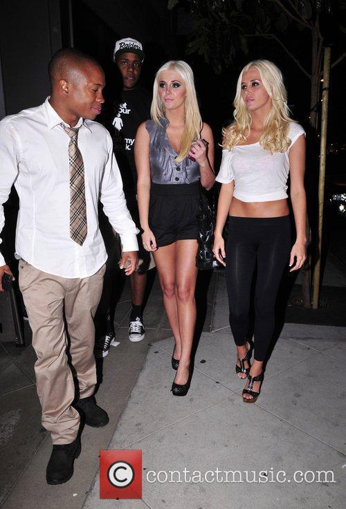 Celebrities leaving the Lemon Basket Restaurant