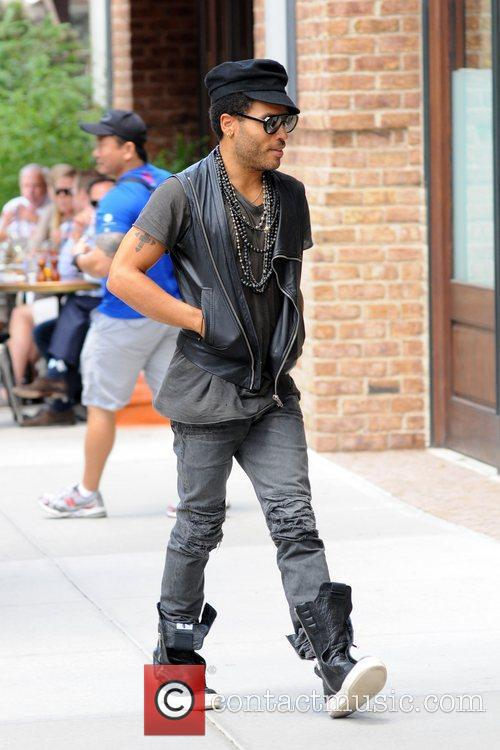 Lenny Kravitz out and about in Manhattan...