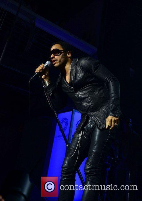 Lenny Kravitz performing at the Samsung AT&T Summer...