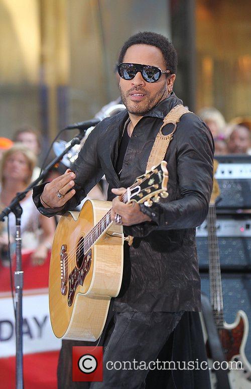 Lenny Kravitz  performing live at Rockefeller Center...