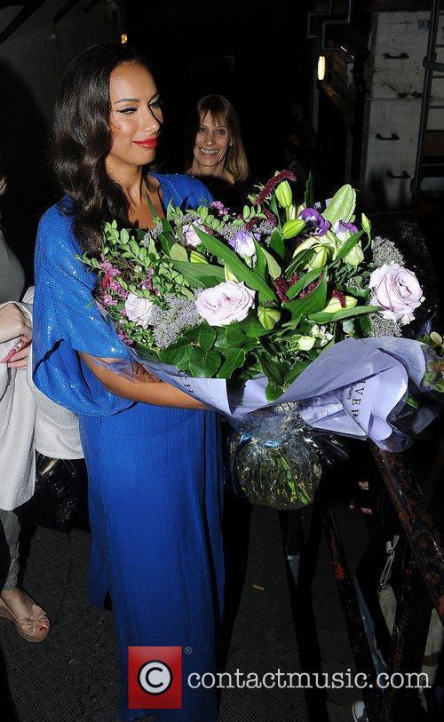 Leona Lewis leaves the Tony Bennett birthday party...