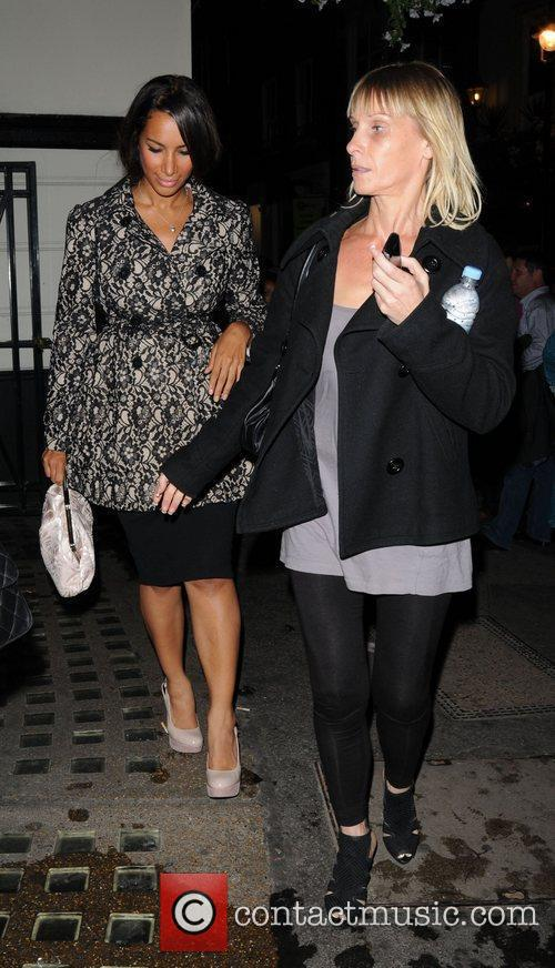 Leona Lewis leaving the Piccadilly Theatre after watching...