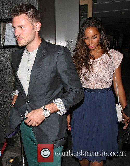 Leona Lewis and boyfriend Dennis Jauch leaving Nobu...