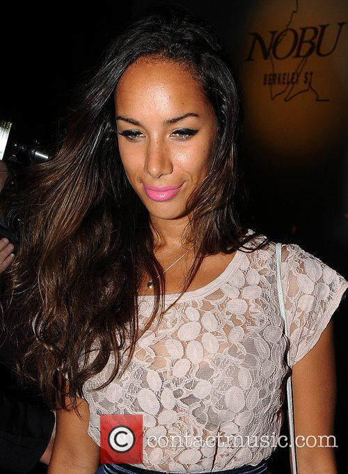 Leona Lewis  poses for photographers as she...