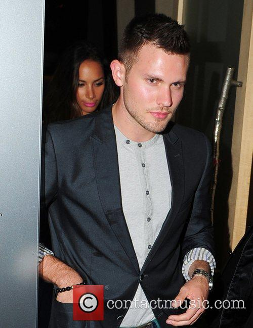 Leona Lewis leaving Nobu restaurant with her boyfriend