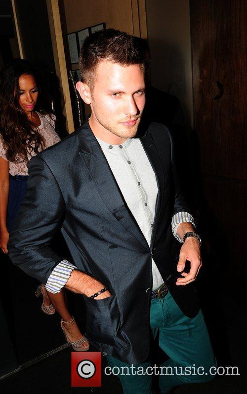 Leona Lewis and Dennis Jauch Leona Lewis leaving...