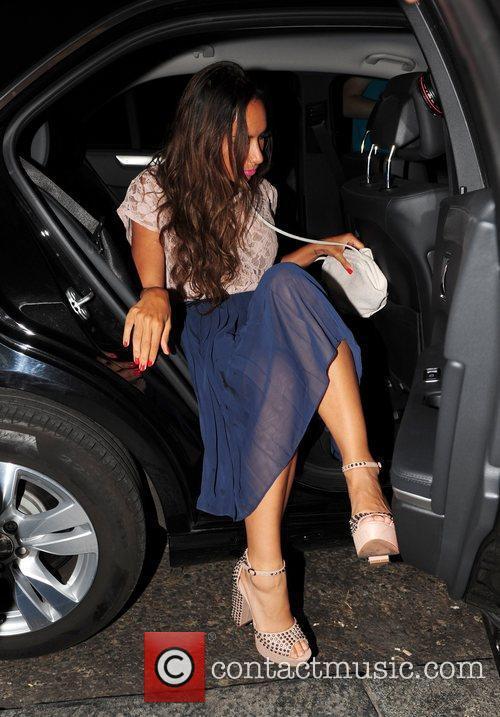 Leona Lewis gets into a car outside Nobu...