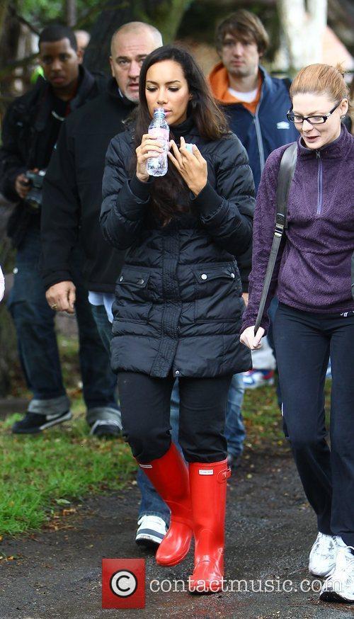 Leona Lewis visits the Hopefield Animal Sanctuary to...
