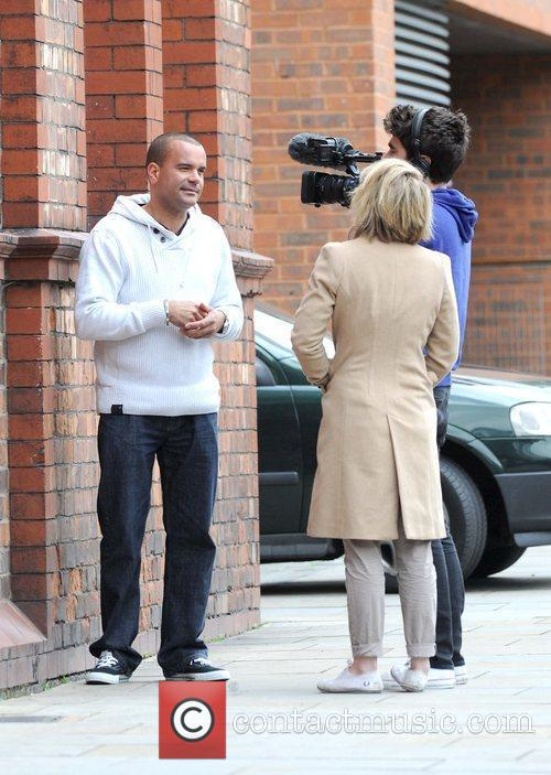 Les Gibson impressionist from 'Britain's Got Talent' filming...