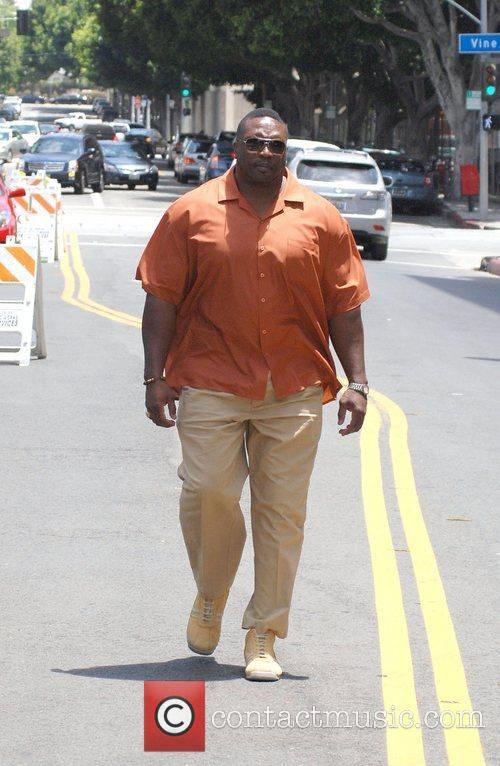 Lester Speight at the Hollywood Farmers Market on...