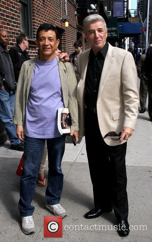 Jamie Masada and Tom Dreesen outside The Ed...
