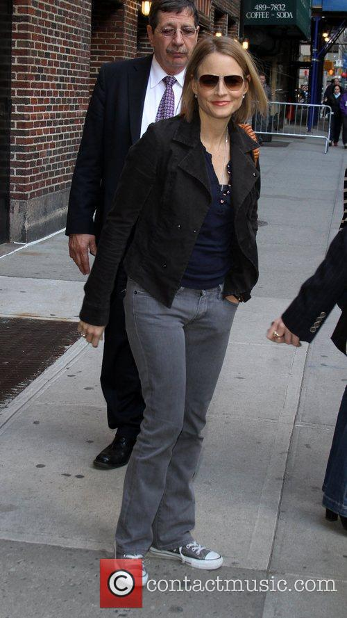 Jodie Foster outside The Ed Sullivan Theater for...