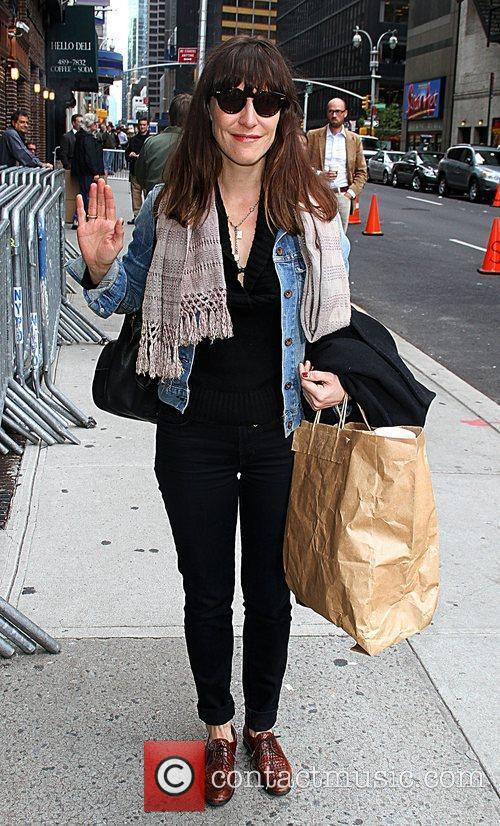 Arrives for the 'Late Show With David Letterman'...