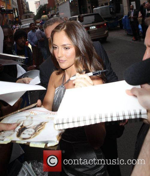 Minka Kelly at Ed Sullivan Theater after appearing...