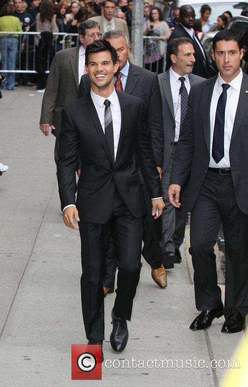 Taylor Lautner at Ed Sullivan Theater after appearing...