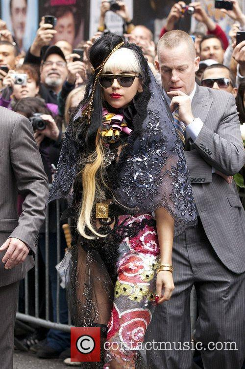Lady Gaga at the Ed Sullivan Theatre for...