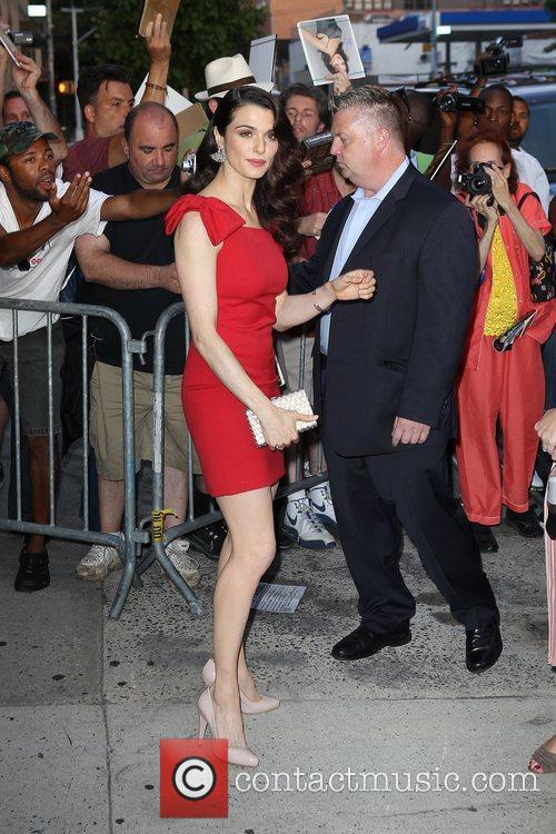 Arriving for 'The Late Show with David Letterman'...