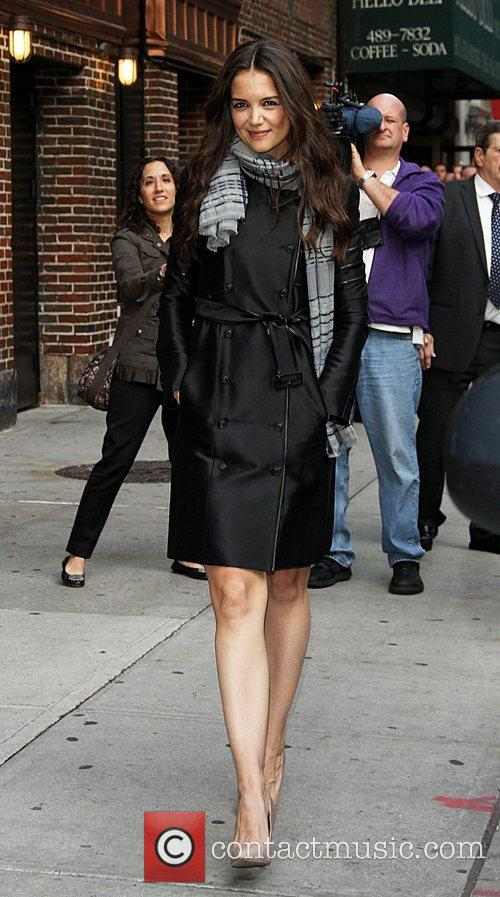 Katie Holmes arriving at the Ed Sullivan Theater...