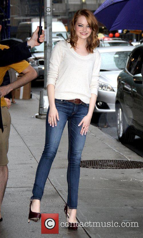 Emma Stone 'The Late Show with David Letterman'...