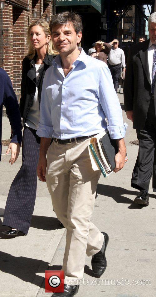George Stephanopoulos Celebrities outside The Ed Sullivan Theater...