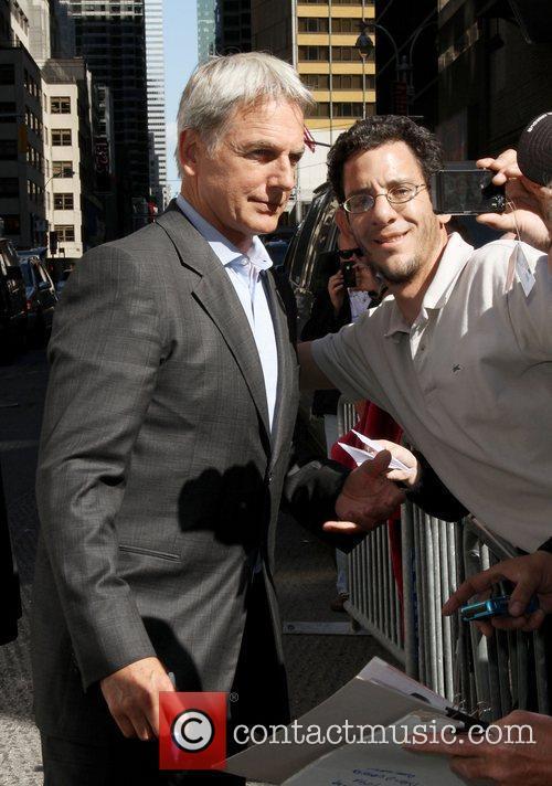 Mark Harmon Celebrities outside The Ed Sullivan Theater...