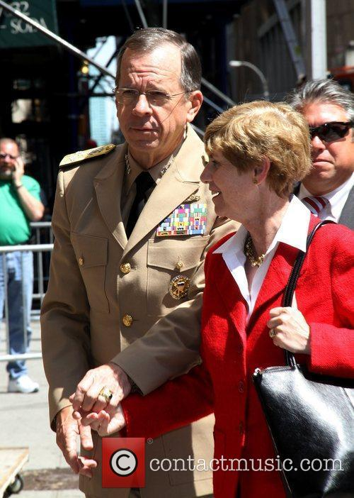 Admiral Mike Mullen Celebrities outside The Ed Sullivan...