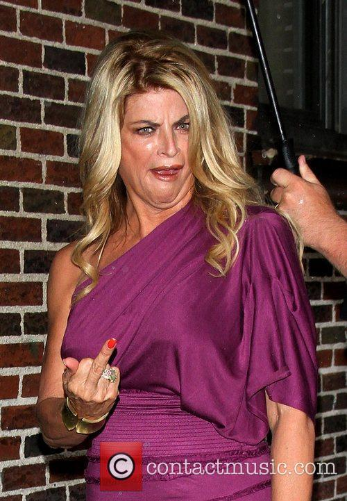 Kirstie Alley giving the middle finger 'The Late...