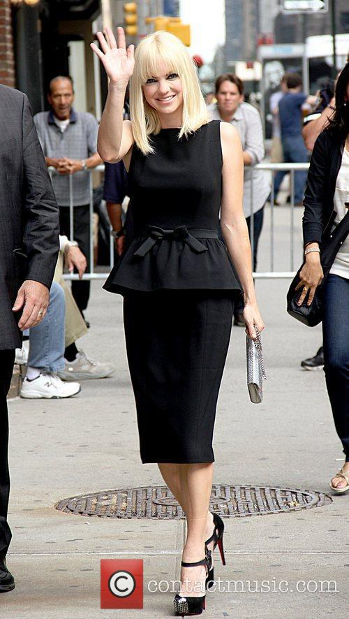 Anna Faris 'The Late Show with David Letterman'...