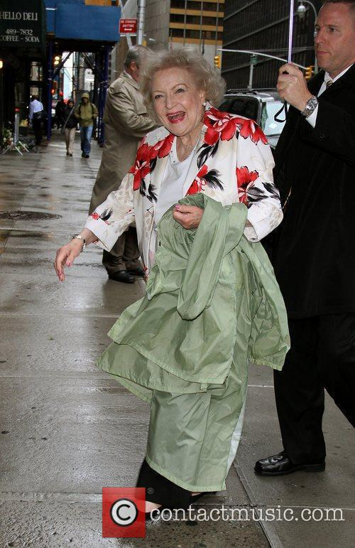 Betty White outside The Ed Sullivan Theater for...