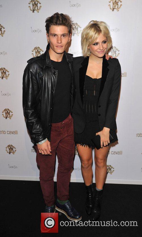 Pixie Lott and Oliver Cheshire London Fashion Week...