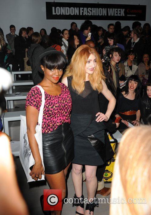 Keisha Buchanan, Nicola Roberts London Fashion Week A/W...