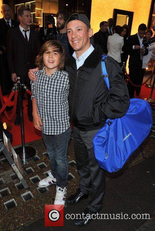 Frankie Dettori and son London Fashion Week Spring/Summer...