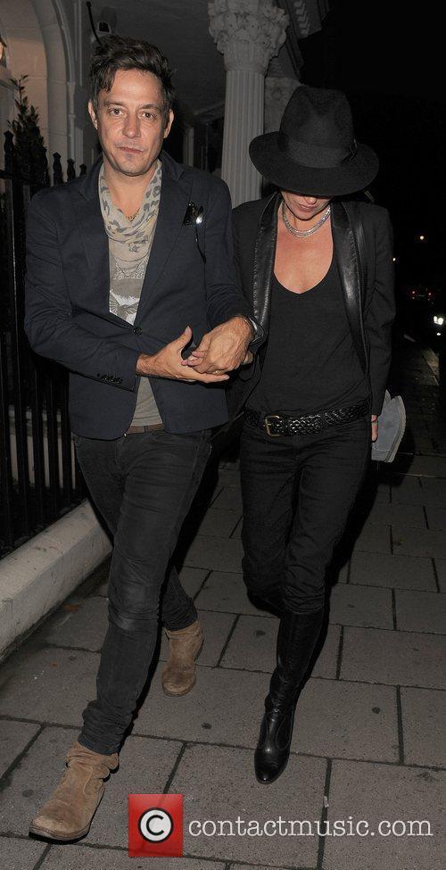 Kate Moss appears a little worse for wear,...
