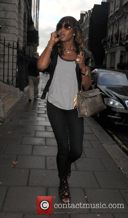 Naomi Campbell attends a dinner at a private...