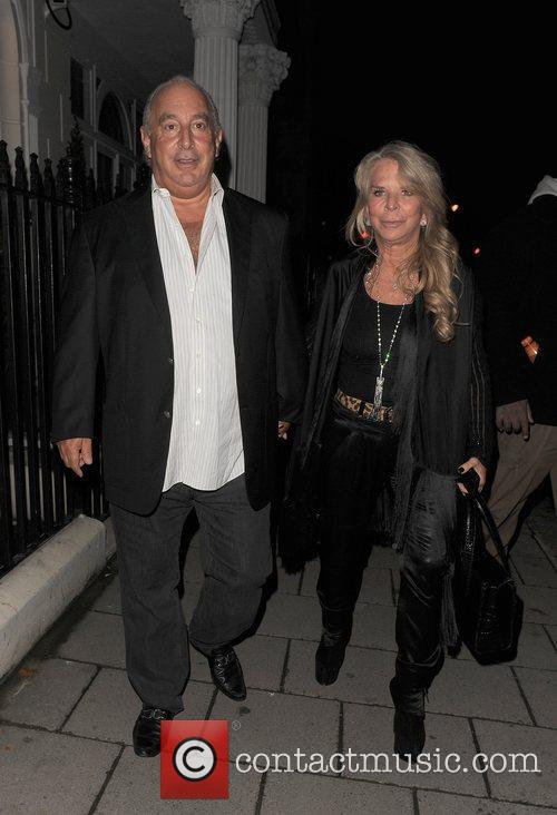 Sir Phillip Green and his wife Tina Green...