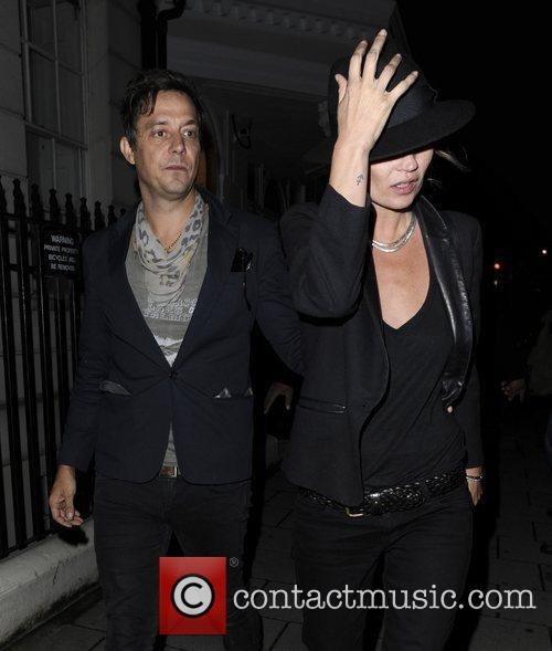 Kate Moss and Jamie Hince leave a private...