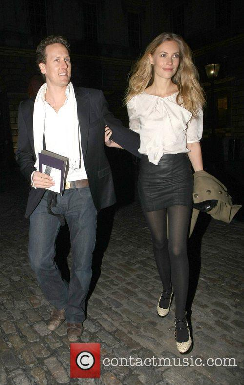 Brendan Cole and Zoe Hobbs London Fashion Week...